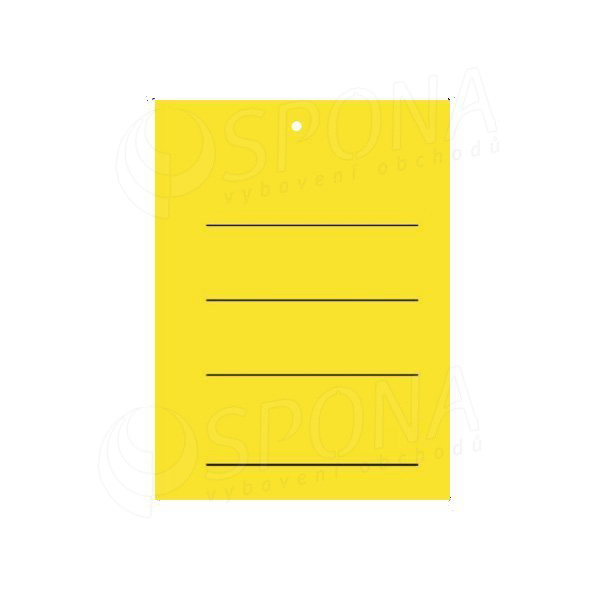 Visačky 3040 s tiskem žluté, 2.000 ks