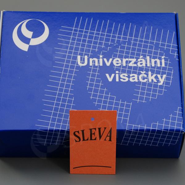 """Visačky 4060 tisk """"SLEVA"""" oranžové, 1.000 ks"""