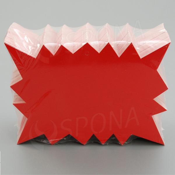 Visačky DREAMER REBEL 120 x 88 mm, červené, 90 ks