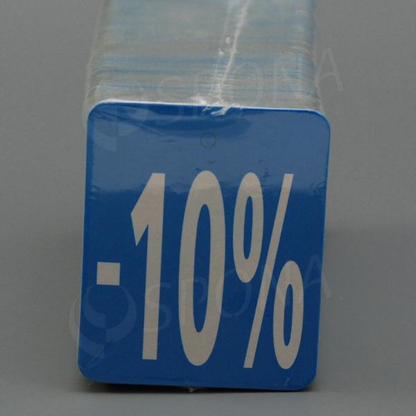 """Visačky SKONTO 45 x 55 mm, """"-10%"""" číslo, barevné, 250 ks"""