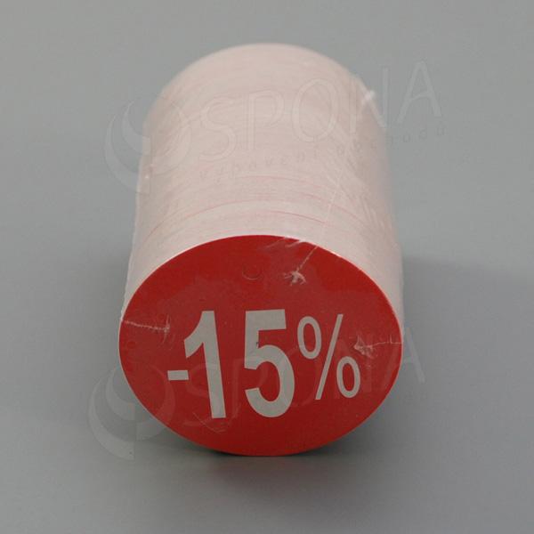 """Visačky SKONTO KRUH 45, """"-15%"""", červené, 180 ks"""