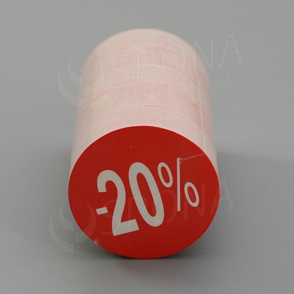 """Visačky SKONTO KRUH 45, """"-20%"""", červené, 180 ks"""