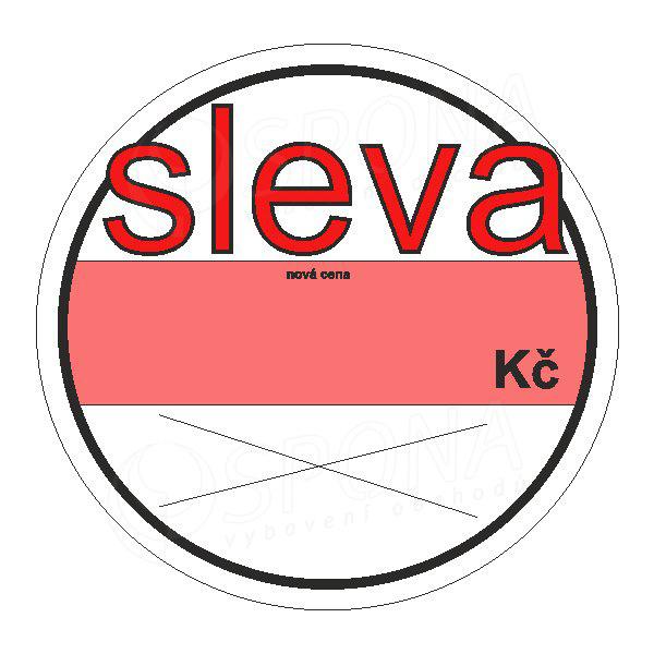 """Visačky SKONTO KRUH 58, """"SLEVA"""", 100 ks"""