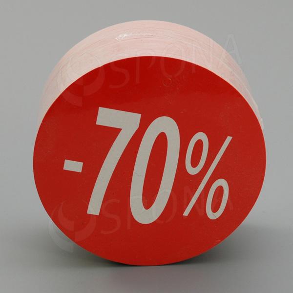 """Visačky SKONTO KRUH 80, """"-70%"""", červené, 80 ks"""