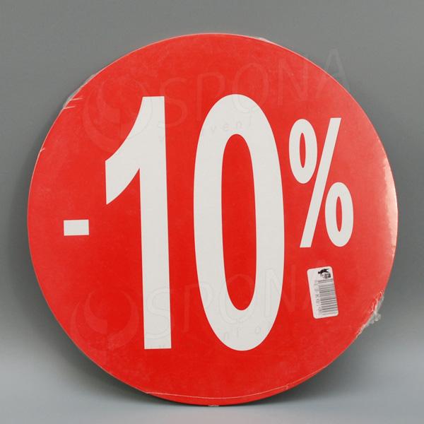 """Visačky SKONTO KRUH 240, """"-10%"""", červené, 10 ks"""