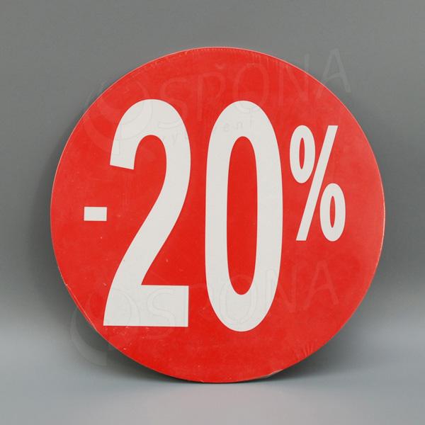 """Visačky SKONTO KRUH 240, """"-20%"""", červené, 10 ks"""