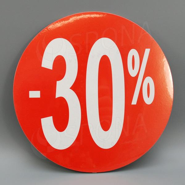 """Visačky SKONTO KRUH 240, """"-30%"""", červené, 10 ks"""