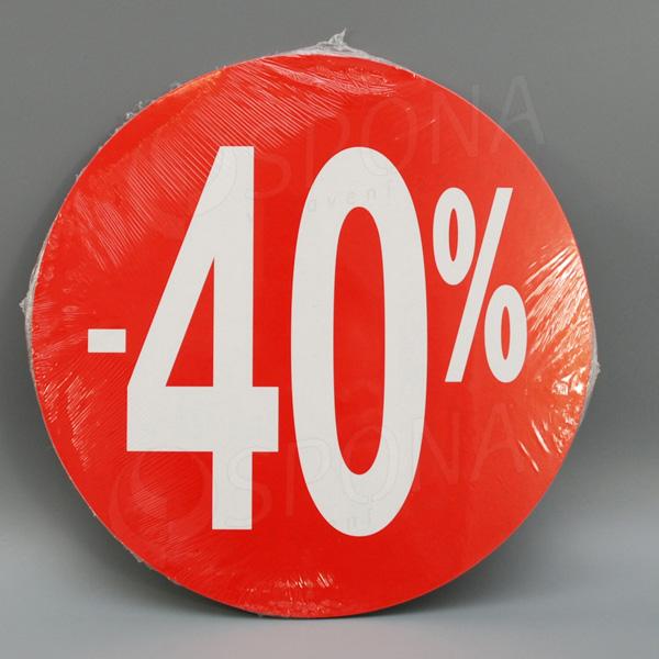 """Visačky SKONTO KRUH 240, """"-40%"""", červené, 10 ks"""