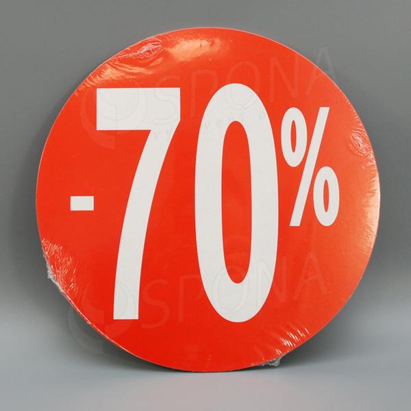 """Visačky SKONTO KRUH 240, """"-70%"""", červené, 10 ks"""