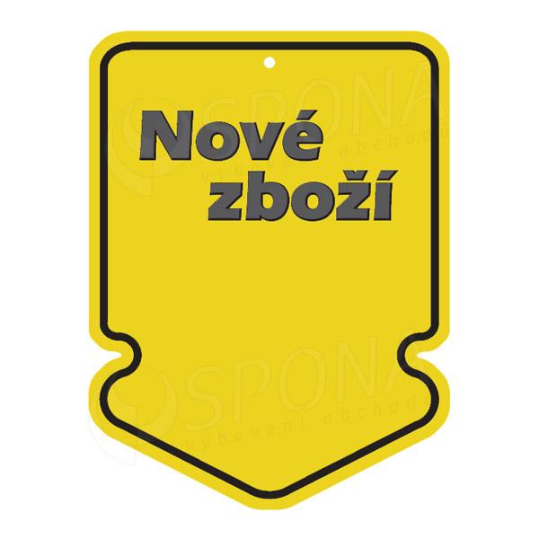 Visačky SKONTO ŠIPKA 43 x 60 NOVÉ ZBOŽÍ, žluté, 250 ks