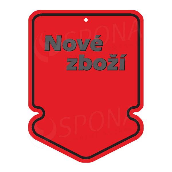 Visačky SKONTO ŠIPKA 43 x 60 NOVÉ ZBOŽÍ, červené, 250 ks