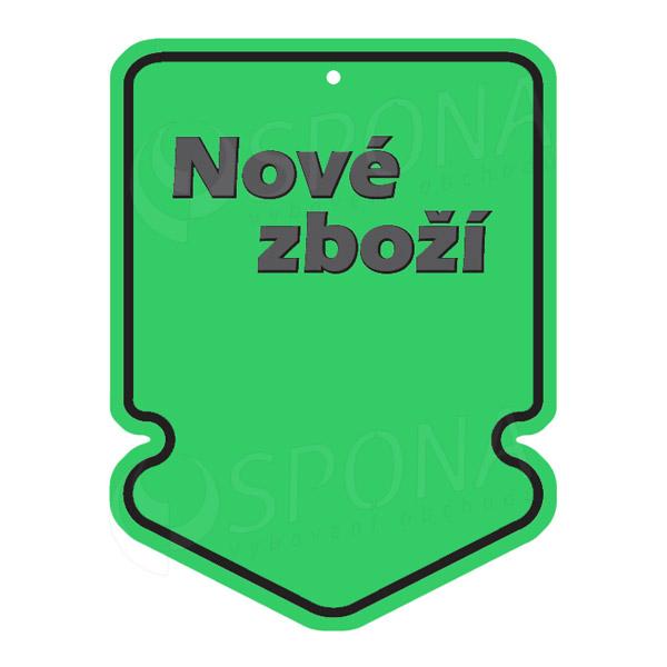 Visačky SKONTO ŠIPKA 43 x 60 NOVÉ ZBOŽÍ, zelené, 250 ks