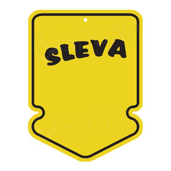 """Visačky SKONTO ŠIPKA 43 x 60 mm, """"SLEVA"""", žluté, 250 ks"""