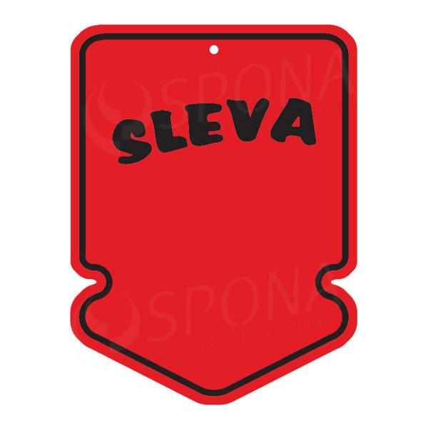 """Visačky SKONTO ŠIPKA 43 x 60 mm, """"SLEVA"""", červené, 250 ks"""