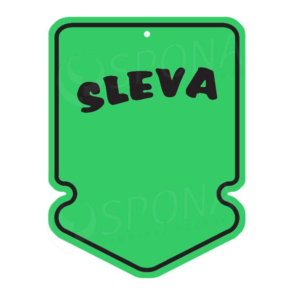 """Visačky SKONTO ŠIPKA 43 x 60 mm, """"SLEVA"""", zelené, 250 ks"""