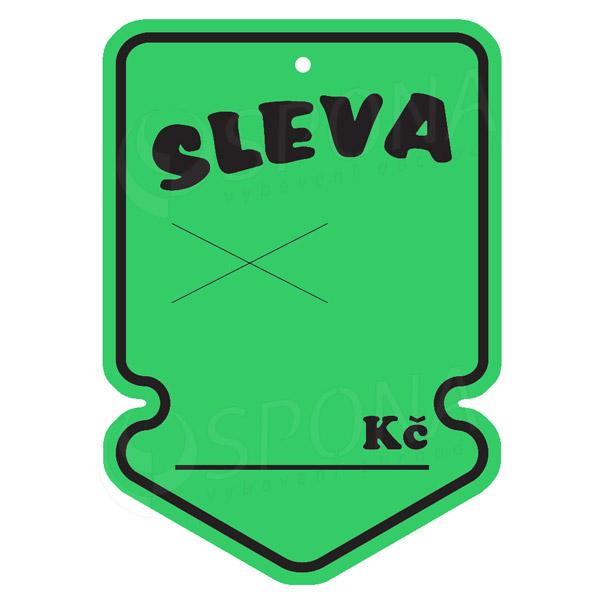 Visačky SKONTO ŠIPKA 105 x 150 mm, SLEVA, zelené, 50 ks
