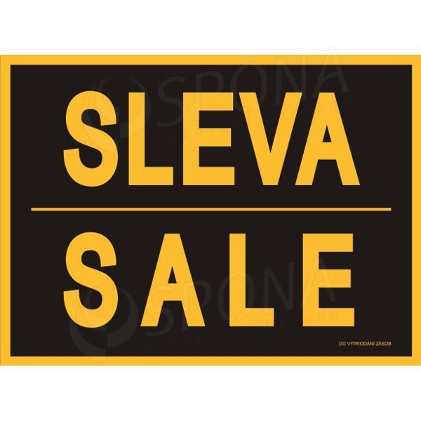 "BANNER SKONTO 650 x 480 mm, ""SLEVA / SALE"", žlutý, černý tisk, 2 ks"