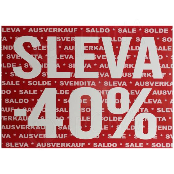 "BANNER SKONTO 700 x 500 mm, ""SLEVA -40%"", tmavě červený, 2 ks"