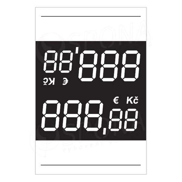 Cenovky 3537 s haléři, 100 ks
