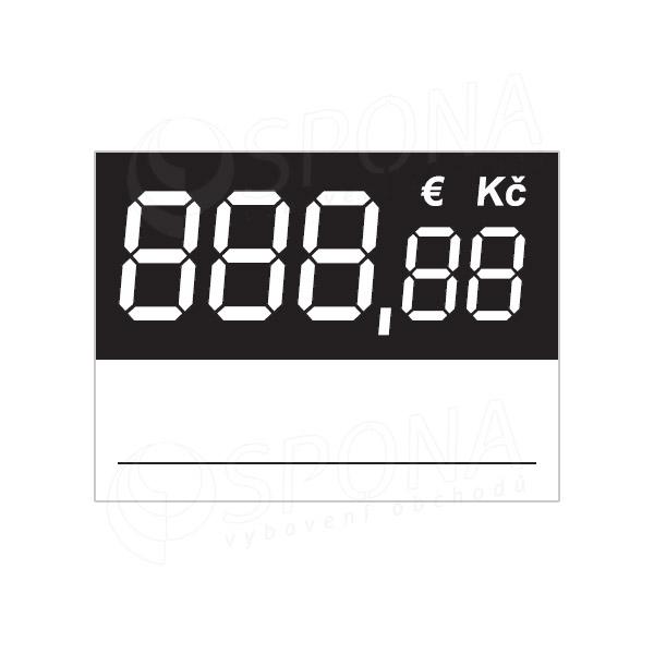 Cenovky 3537 s haléři, regálové, 100 ks