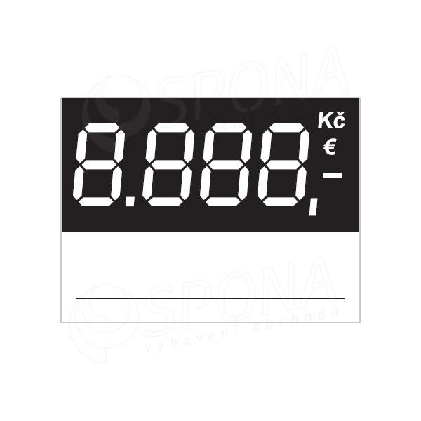 Cenovky 4537 regál, 100 ks