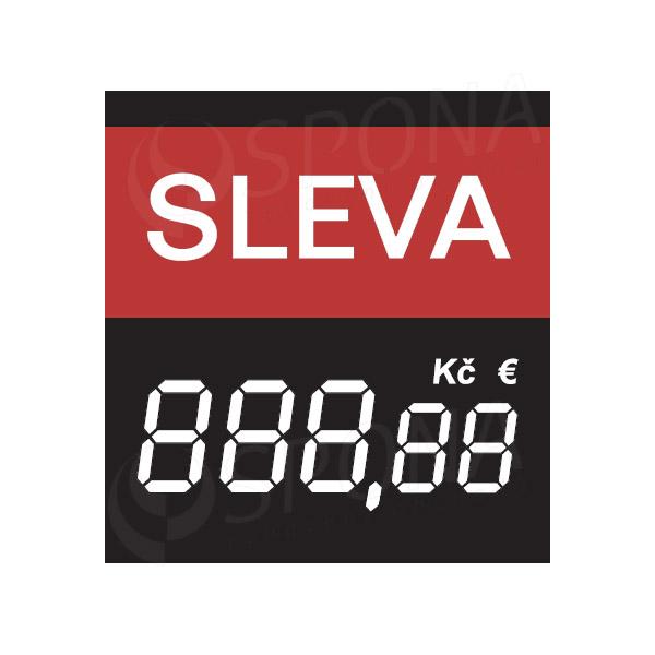 Cenovky 4750 SLEVA s haléři, 100 ks