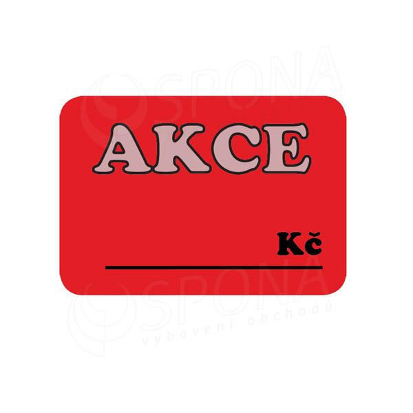 """Cenovky DREAMER 75 x 52 mm, """"AKCE"""", červené, 100 ks"""