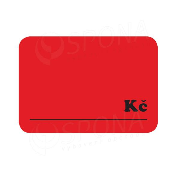 """Cenovky DREAMER 75 x 52 mm, """"Kč"""", červené, 100 ks"""