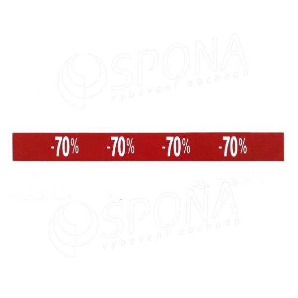 Cenovky regálové - pruh SKONTO -70% / 40 ks