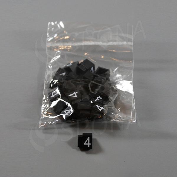 Cenovky Q 3, 6 x 9 mm, náhradní číslo 4, 20 ks