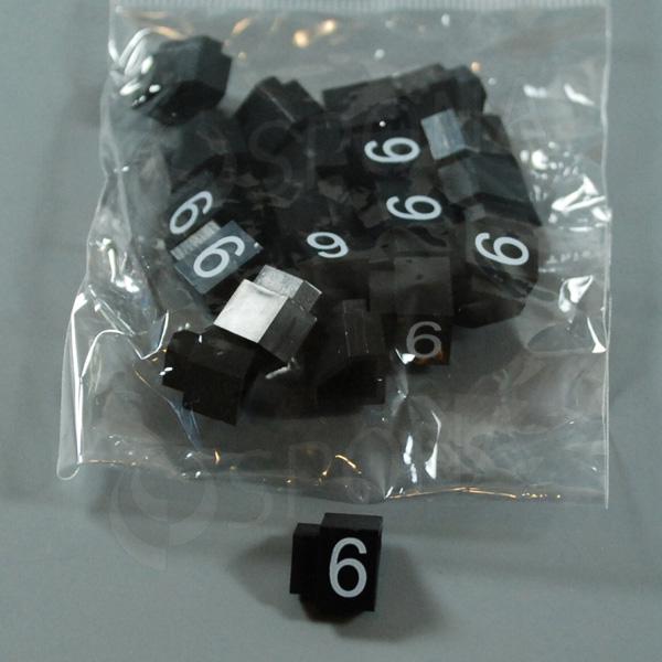 Cenovky Q 3, 6 x 9 mm, náhradní číslo 6, 20 ks