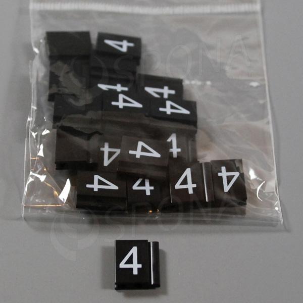Cenovky Q 6, 8 x 12 mm, náhradní číslo 4, 20 ks