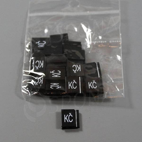 Cenovky Q 6, 8 x 12 mm, náhradní znak Kč, 20 ks