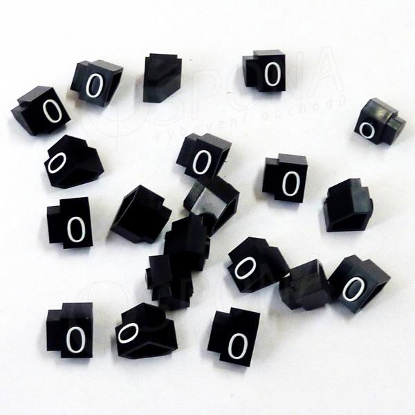 Cenovky Q 2D, 4 x 6 mm, náhradní číslo 0, 20 ks, bílý prolis