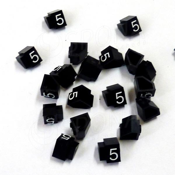 Cenovky Q 2D, 4 x 6 mm, náhradní číslo 5, 20 ks, bílý prolis
