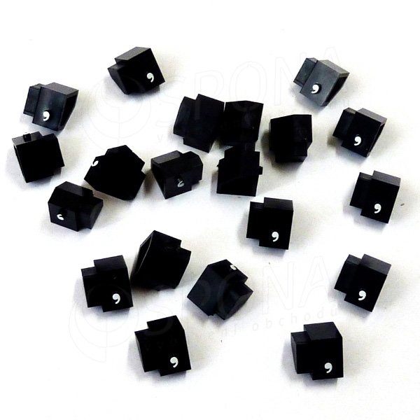 Cenovky Q 2D, 4 x 6 mm, náhradní čárka, 20 ks, bílý prolis