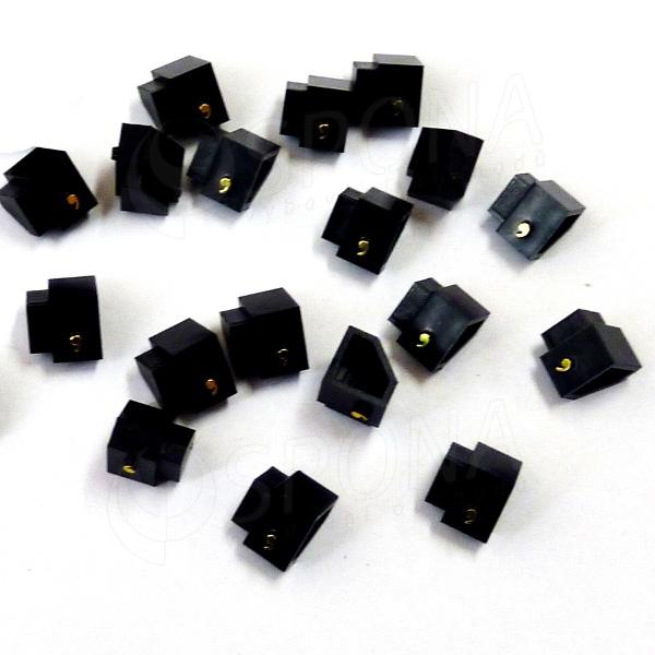 Cenovky Q 2D, 4 x 6 mm, náhradní čárka, 20 ks, zlatý prolis