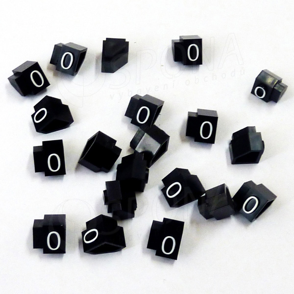Cenovky Q 3D, 6 x 9 mm, náhradní číslo 0, 20 ks, bílý prolis