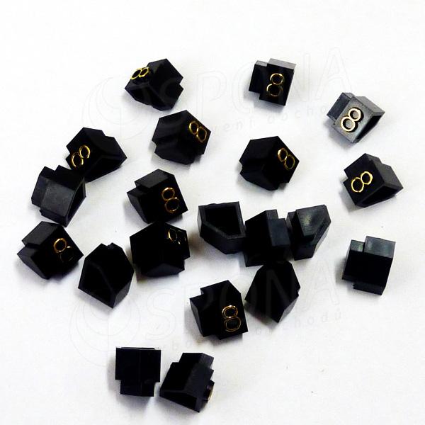 Cenovky Q 3D, 6 x 9 mm, náhradní číslo 8, 20 ks, zlatý prolis
