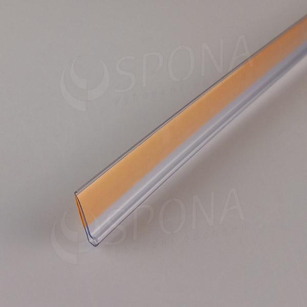 Cenovková lišta čelní 18 x 997 mm, samolepicí, transparentní