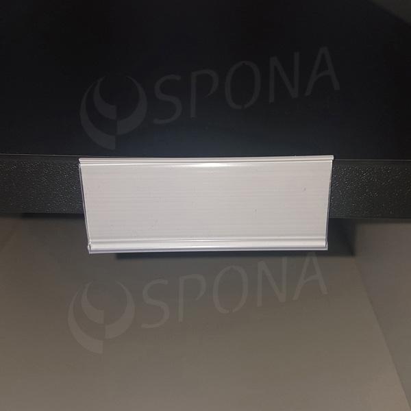 Cenovková lišta čelní 26 mm x 70 mm, samolepící, bílá