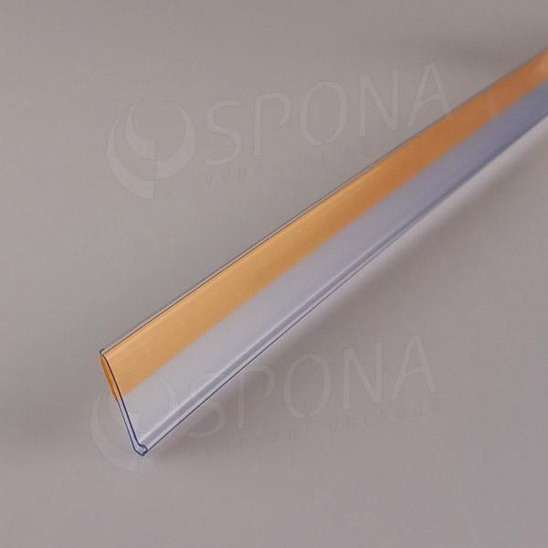 Cenovková lišta čelní 26 x 997 mm, samolepicí, transparentní