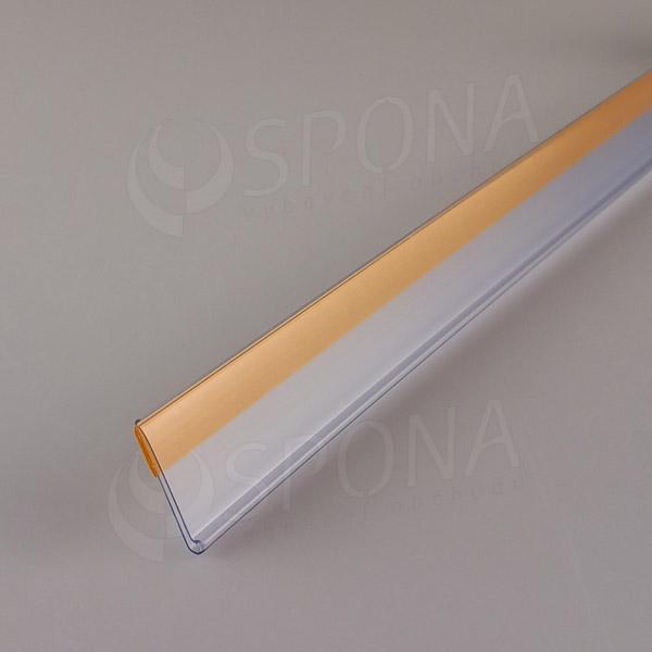 Cenovková lišta čelní 30 x 997 mm, samolepicí, transparentní
