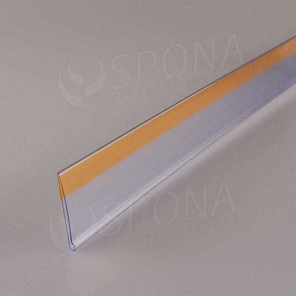 Cenovková lišta čelní 40 x 1250 mm, samolepicí, transparentní