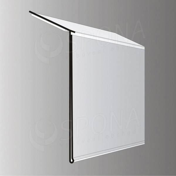 Cenovková lišta 40 mm x 997 mm, sklon 15 stupňů, samolepící, bílá