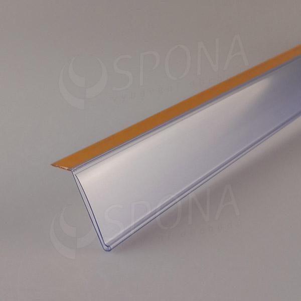 Cenovková lišta 40 x 997 mm, sklon 15°, samolepicí, transparentní