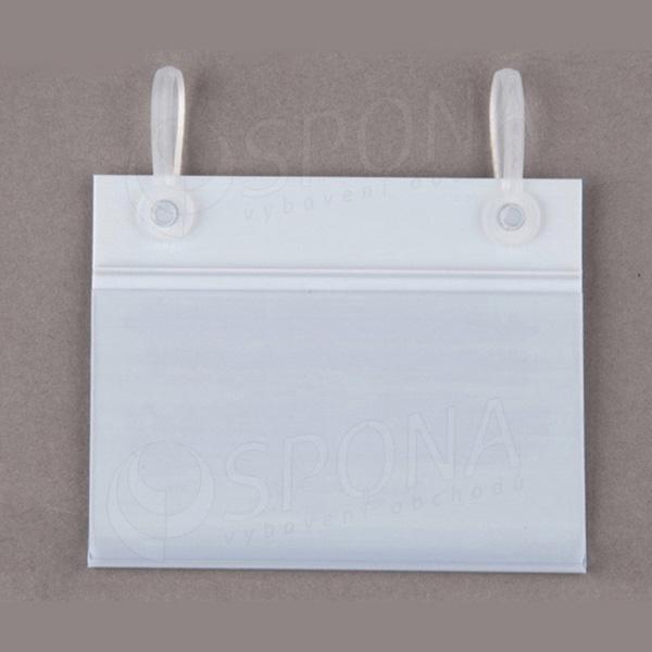 Cenovková lišta 40 mm x 80 mm závěsná s úchyty, bílá