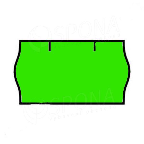 Etikety do kleští CONTACT, zaoblené, 22 x 12 mm, zelené