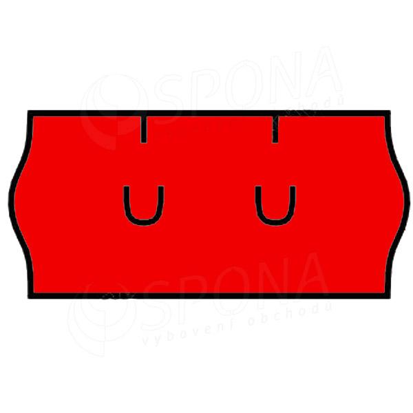 Etikety do kleští, UNI 26 x 12 mm, červené