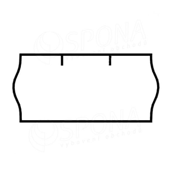 Etikety do kleští CONTACT, zaoblené, 26 x 12 mm, bílé